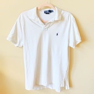 Polo by Ralph Lauren men's solid white polo #6139